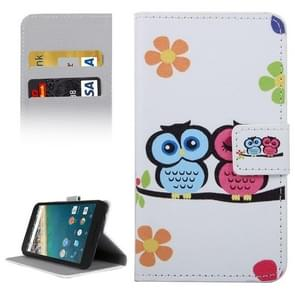 Owl Couple Pattern Horizontal Flip Leather Case with Holder & Card Slots & Wallet for Google Nexus 5X