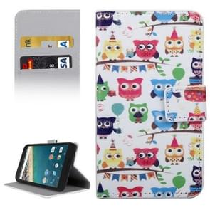 Owls Party Pattern Horizontal Flip Leather Case with Holder & Card Slots & Wallet for Google Nexus 5X