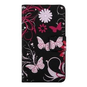 Butterfly and Flower Pattern Horizontal Flip Leather Case with Holder & Card Slots & Wallet for Google Nexus 5X