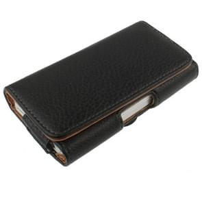 Universal Mobile Phone Leather Case / Bag with Clip for iPhone , Size: 120 x 60 x 25mm(Black)