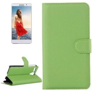 Litchi Texture Flip Leather Case with Holder & Card Slots & Wallet for Lenovo A616(Green)