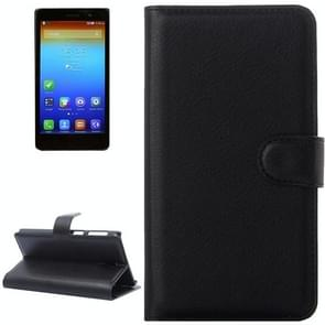 Litchi Texture Flip Leather Case with Holder & Card Slots & Wallet for Lenovo S860(Black)