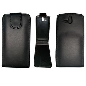 Vertical Flip Leather Case for Sony ST25i (Xperia U)(Black)