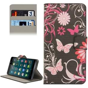 Butterfly Pattern Flip Leather Case with Holder & Card Slots & Wallet for Wiko Getaway