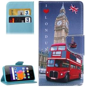 I LOVE LONDON Pattern Horizontal Flip Leather Case with Holder & Card Slots & Wallet for Alcatel OneTouch Pixi 3 5.0
