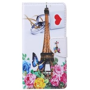 Tower and Flowers Pattern Horizontal Flip Leather Case with Holder & Card Slots & Wallet for Alcatel OneTouch Pixi 3 5.0
