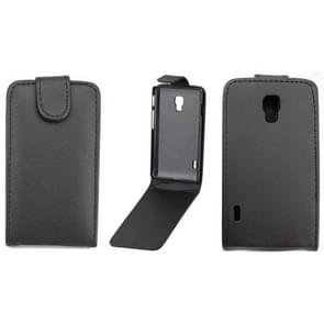 For LG Optimus L7 II / P710 Vertical Flip Magnetic Snap Leather Case(Black)