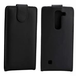 For LG Manga Nappa Texture Vertical Flip Magnetic Snap Leather Case(Black)