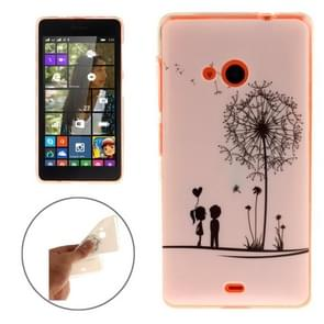 Romantic Little Couple Pattern Soft TPU IMD Protective Case for Microsoft Lumia 535