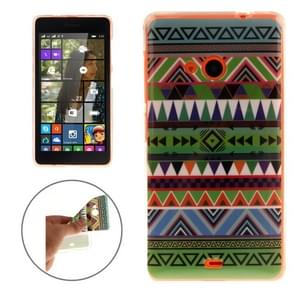 National Style Stripes Pattern Soft TPU IMD Protective Case for Microsoft Lumia 535