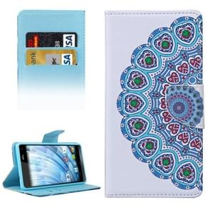 National Style Flower Bud Pattern Horizontal Flip Leather Case with Holder & Card Slots & Wallet for Wiko Fever