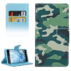Camouflage Pattern Horizontal Flip Leather Case with Holder & Card Slots & Wallet for Wiko Fever