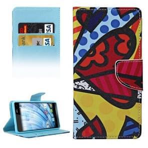 Colorful Splice Pattern Horizontal Flip Leather Case with Holder & Card Slots & Wallet for Wiko Fever