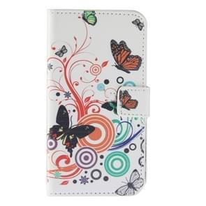 Color Butterfly Pattern Horizontal Flip Magnetic Buckle Leather Case with Holder & Card Slots & Wallet for Wiko Lenny