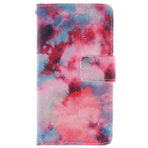 Color Clouds Pattern Leather Case with Holder & Card Slot & Wallet for Alcatel One Touch Pop C7