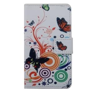 Butterfly Pattern Horizontal Flip PC + PU Leather Case with Holder & Card Slots & Wallet for Wiko Lenny 2