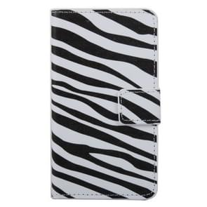 Zebra Stripe Pattern Horizontal Flip PC + PU Leather Case with Holder & Card Slots & Wallet for Wiko Lenny 2