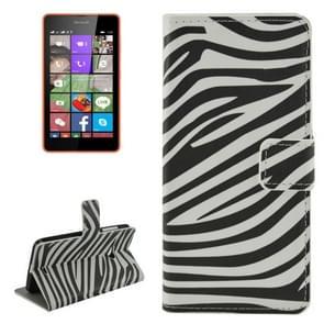 Zebra Stripe Pattern Horizontal Flip Leather Case with Holder & Card Slots & Wallet for Microsoft Lumia 540