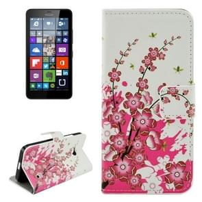 Cherry Blossom Pattern Horizontal Flip Leather Case with Holder & Card Slots & Wallet for Microsoft Lumia 640