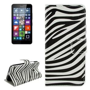 Zebra Stripe Pattern Horizontal Flip Leather Case with Holder & Card Slots & Wallet for Microsoft Lumia 640
