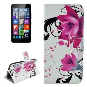 Flower Pattern Horizontal Flip Leather Case with Holder & Card Slots & Wallet for Microsoft Lumia 640