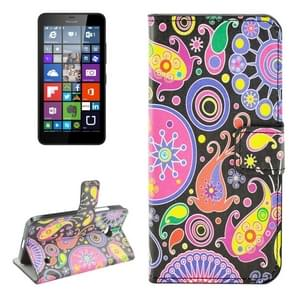 Acaleph Pattern Horizontal Flip Leather Case with Holder & Card Slots & Wallet for Microsoft Lumia 640