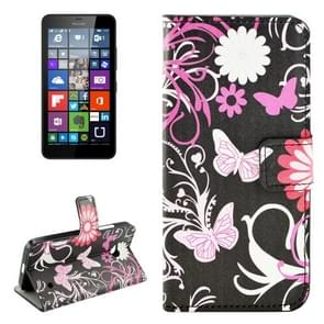 Butterfly Pattern Horizontal Flip Leather Case with Holder & Card Slots & Wallet for Microsoft Lumia 640