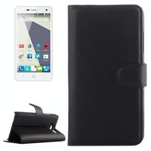 Horizontal Flip Solid color Leather Case with  Card Slots & Holder & Wallet for ZTE Blade L3(Black)