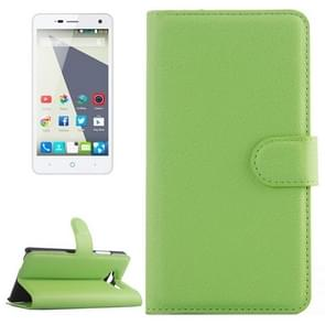 Horizontal Flip Solid color Leather Case with  Card Slots & Holder & Wallet for ZTE Blade L3(Green)