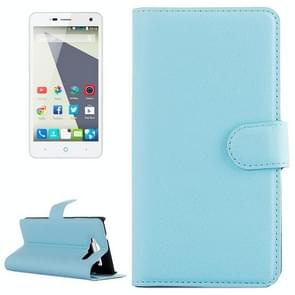 Horizontal Flip Solid color Leather Case with  Card Slots & Holder & Wallet for ZTE Blade L3(Blue)