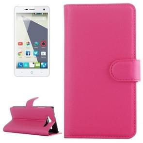 Horizontal Flip Solid color Leather Case with  Card Slots & Holder & Wallet for ZTE Blade L3(Magenta)