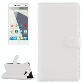 Horizontal Flip Solid color Leather Case with  Card Slots & Holder & Wallet for ZTE Blade L3(White)