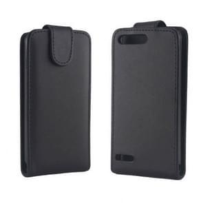 Vertical Flip Leather Case for Huawei Ascend G6-T00 3G / P6 mini(Black)