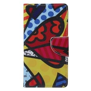 Colorful Splice Pattern Horizontal Flip Leather Case with Holder & Card Slots & Wallet for Alcatel Idol 3 5.5inch