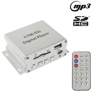 Car Digital MP3 Player with Remote Control, Support SD Card / USB Flash Disk(Silver)