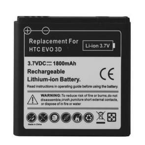 1800mAh mobiele telefoon Batterij voor HTC EVO 3D / Sensation XL / G14 / X515m / G17 Sensation XE Z715e / G18(zwart)