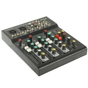 4 Channels Professional Mixing Console and Aux Paths Plus Effects Processor