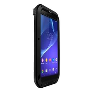 LOVE MEI Metal Ultra-thin Rain Resistant + Dropproof + Shockproof + Dustproof Protective Case for Sony Xperia T2 Ultra(Black)