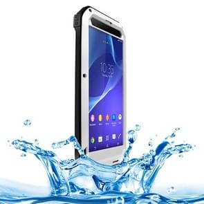 LOVE MEI Metal Ultra-thin Rain Resistant + Dropproof + Shockproof + Dustproof Protective Case for Sony Xperia T2 Ultra(Silver)