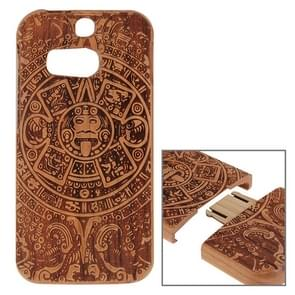 For HTC One M8 Maya Pattern Separable Cherry Wooden Case