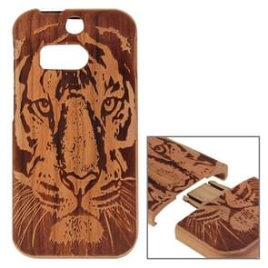 Tiger Pattern Separable Cherry Wooden Case for HTC One M8