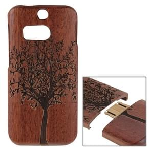 For HTC One M8 Tree Pattern Separable Sapele Wooden Case