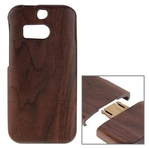 For HTC One M8 Separable Walnut Wooden Case