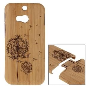 For HTC One M8 Dandelion Pattern Separable Bamboo Wooden Case
