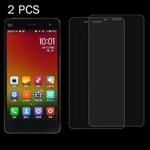 2PCS Xiaomi Mi4 0.26mm 9H+ Surface Hardness 2.5D Explosion-proof Tempered Glass Film
