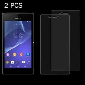 2 PCS for Sony Xperia M2 / S50H 0.26mm 9H Surface Hardness 2.5D Explosion-proof Tempered Glass Screen Film