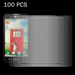 100 PCS for LG L70 D320N 0.26mm 9H Surface Hardness 2.5D Explosion-proof Tempered Glass Screen Film