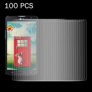 100 PCS for LG L80 / Series III 0.26mm 9H Surface Hardness 2.5D Explosion-proof Tempered Glass Screen Film