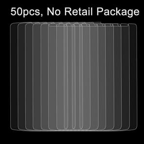 50 PCS for LG L80 / Series III 0.26mm 9H Surface Hardness 2.5D Explosion-proof Tempered Glass Film, No Retail Package