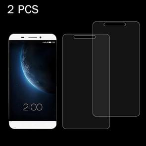 2 PCS LeTV le 1 Pro / X900 0.26mm 9H+ Surface Hardness 2.5D Tempered Glass Film
